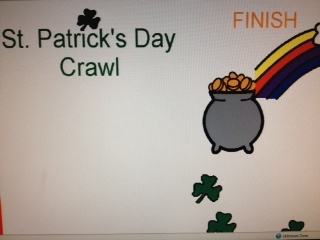 St. Patrick's Day Crawl  Gameboard for use with any artic, language, fluency, or other stimuli.  Created by Jessica Curry. From the website of Speaking of Speech. www.speakingofspe... Pinned by SOS Inc. Resources.  Follow all our boards at pinterest.com/...  for therapy resources.