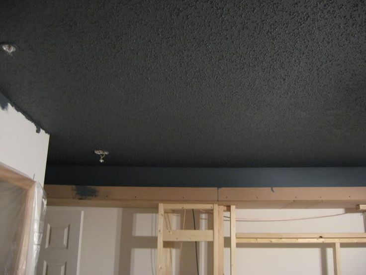Painted Dark Popcorn Ceiling Oliver 39 S Room Pinterest