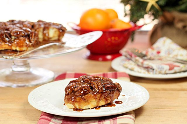 Pecan Sticky Buns with Orange and Bourbon Glaze | Recipe