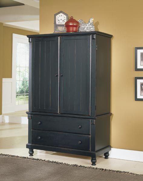 Country Black Armoire Furniture Fantasies Pinterest