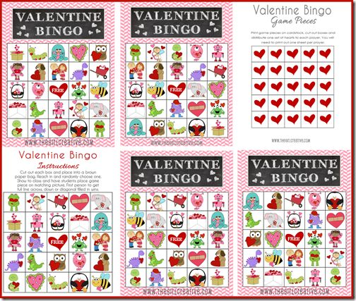 valentine's day bingo word list