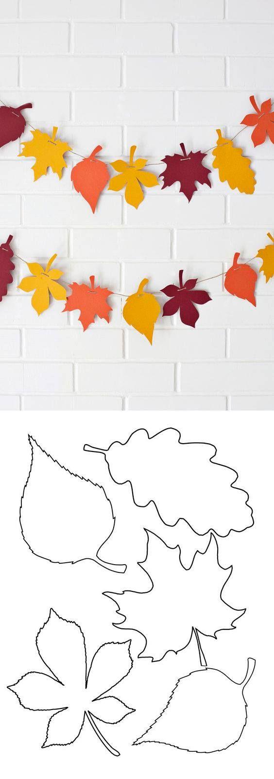 Поделки из листьев трафарет