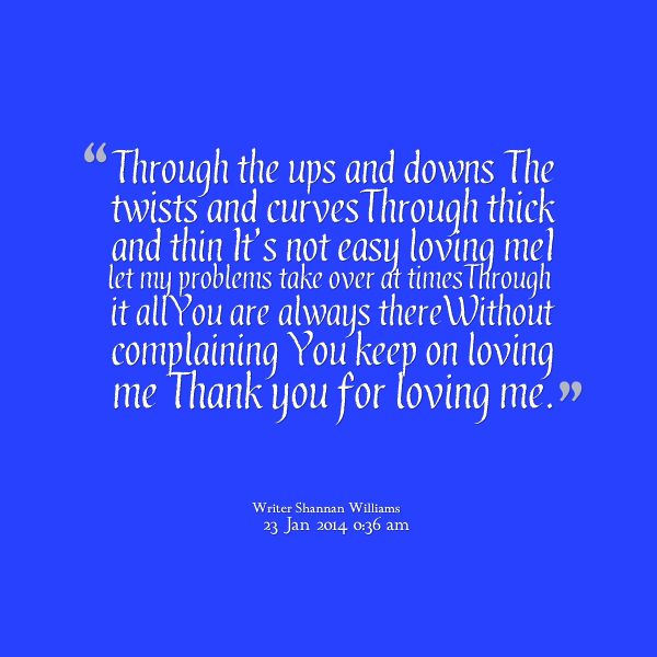 My Poem: Thank you for loving me | Poetry by Shannan Lee Williams ...