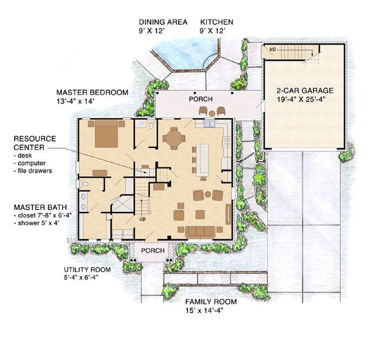 bungalow craftsman house plan 56579