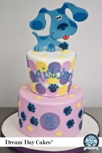 Awesome Blue's Clues cake by Dream Day Cakes!