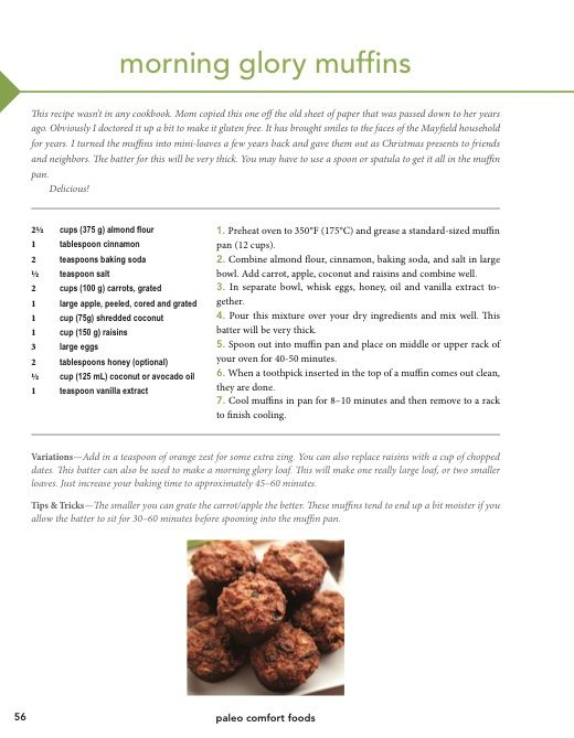 Morning Glory Muffins (grain free) Just made these - they are GREAT ...