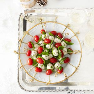 Tomato and Mozzarella Bites Recipe - Delish.com - Easter Brunch - Ideas - Mohawk Homescapes