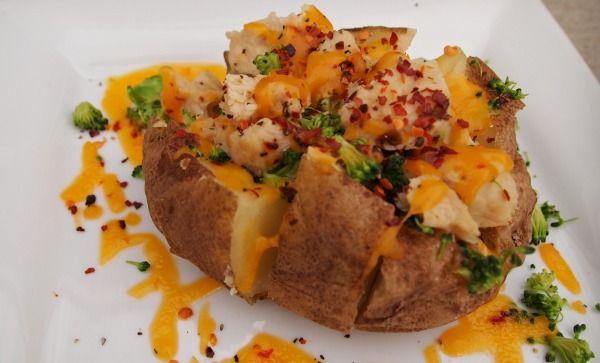 Low fat super loaded stuffed baked potato recipe