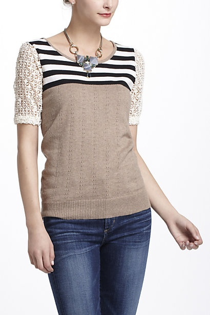 Striped Galao Pullover #anthropologie
