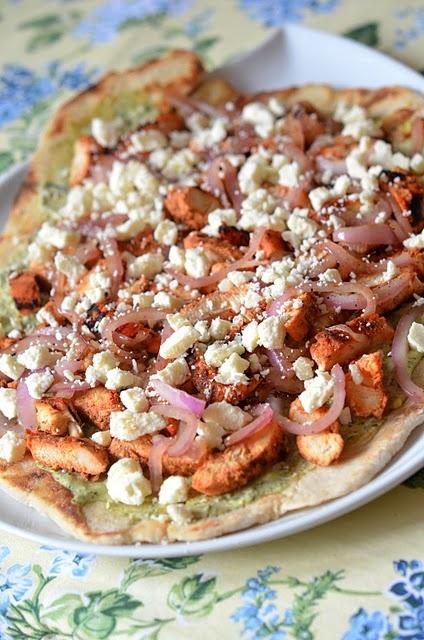 Tandoori Chicken Chutney Pizza | Food, glorious food | Pinterest