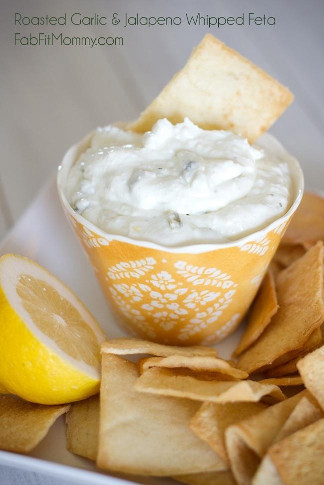 Roasted Garlic & Jalapeno Whipped Feta | Dip Sauce Spread | Pinterest