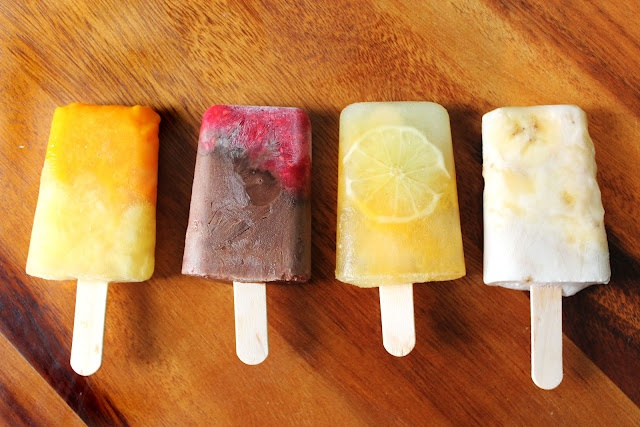 Make your own popsicles! Be creative. Here are some popsicle ideas ...