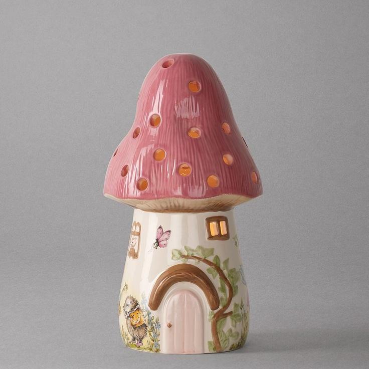 dewdrop pink toadstool children 39 s lamp pink girls