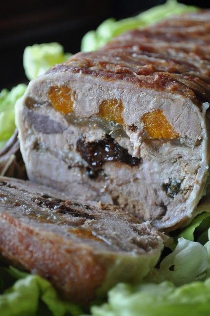 ... duck and pork rillette with boozy prunes and fresh pepper corns