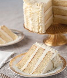 Sour Cream Cake with Whipped Vanilla Frosting {recipe}   Delicious ...
