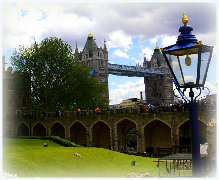 Tower of London Looking onto London Bridge
