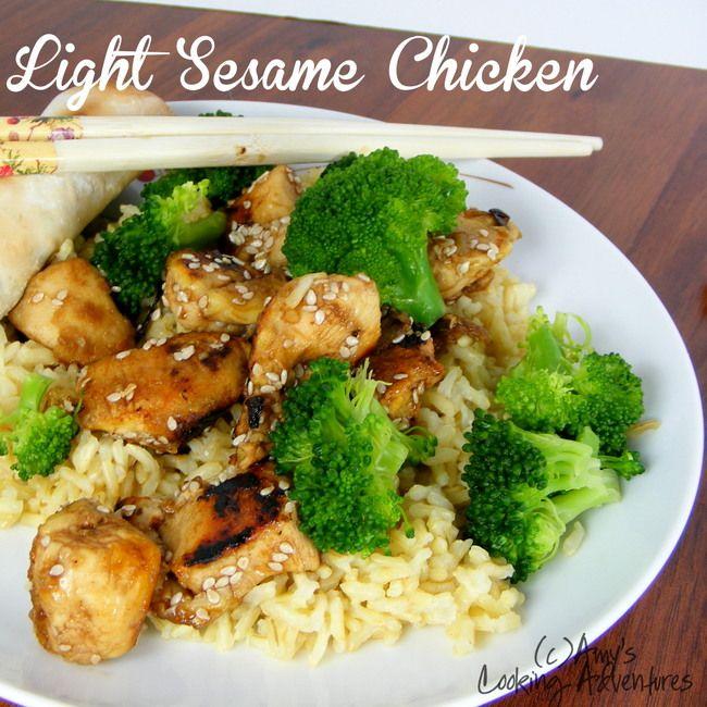 Light Sesame Chicken | Food & recipes | Pinterest