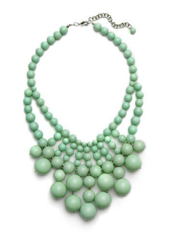 Beaded bib necklace.