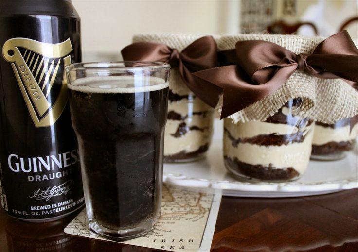 Dark Chocolate Stout Cake layered with Caramel & Kahlua Whipped Cream.