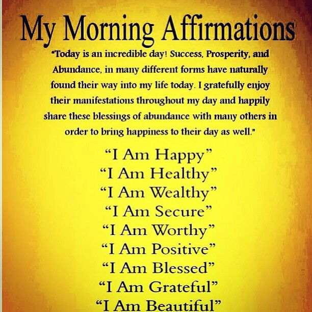 positive affirmations self esteem