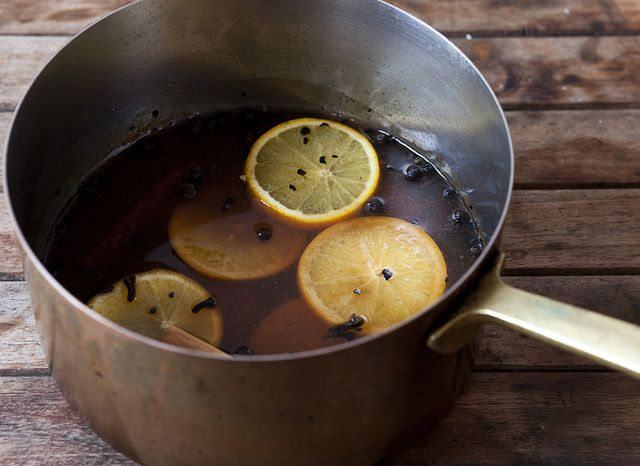 Mulled Cider 1/2 Cup Bourbon 2 Cups Water 4 oz Morris Kitchen Spiced ...