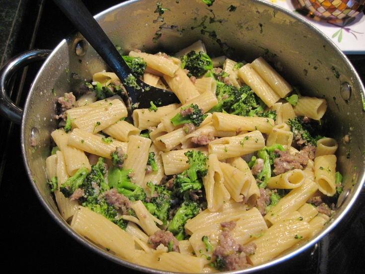recipe from Emeril Lagasse called Rigatoni with Broccoli and Sausage ...