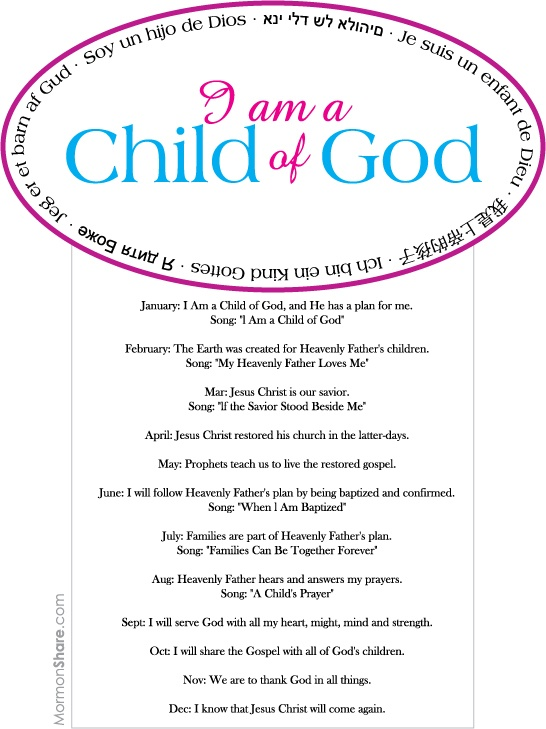 2013 LDS Primary Binder covers
