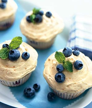 Blueberry Hill Cupcakes by Epicurious | food
