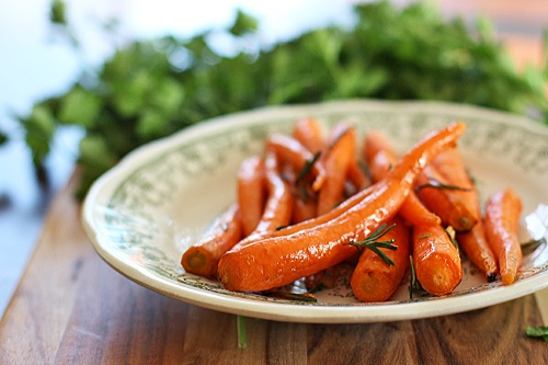 Maple Pan-Roasted Baby Carrots Recipe — Dishmaps
