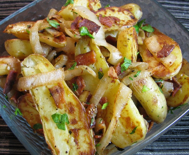 Fingerling Potatoes With Caramelized Onion And Bacon Recipe ...