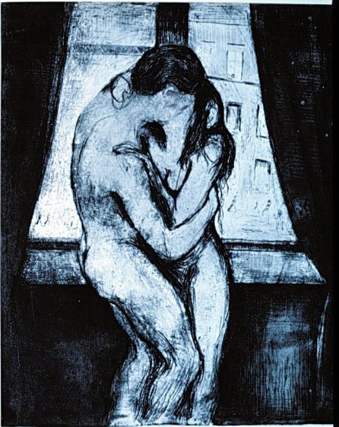 Edvard Munch, il bacio (1895)
