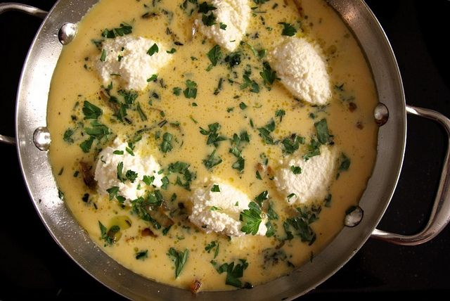 Onion frittata. I'd sub the ricotta with some other kind of cheese ...
