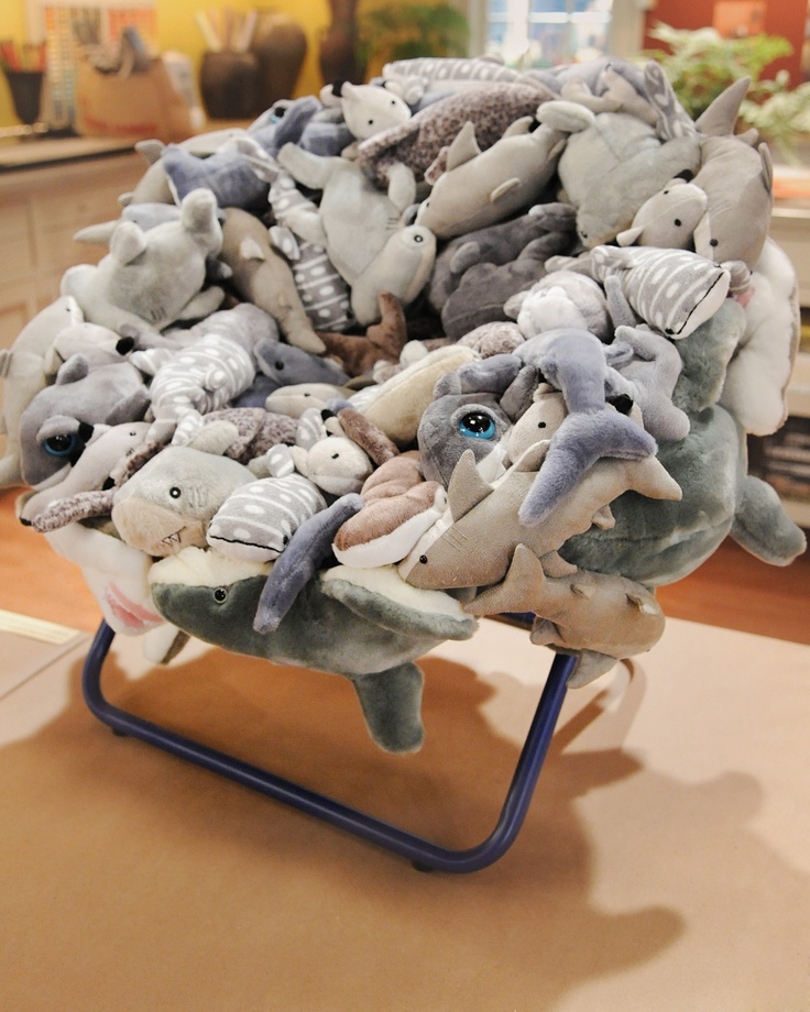 "Upcycle or recycle old stuffed animals or Beanie Babies with a children's chair craft from Kelly Behun on ""The Martha Stewart Show."""