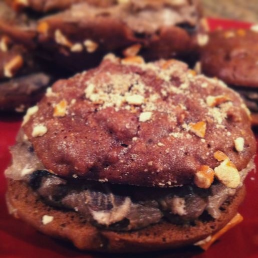 ... dessert? sign me up. Double chocolate stout whoopie pies by The