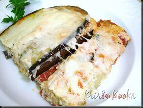 Krista Kooks Lighter Eggplant Parmesan Skinnytaste #glutenfree