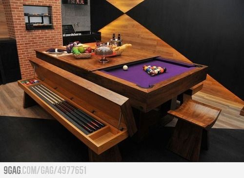 Convertible pool dining table for the home pinterest - Billard convertible table ...