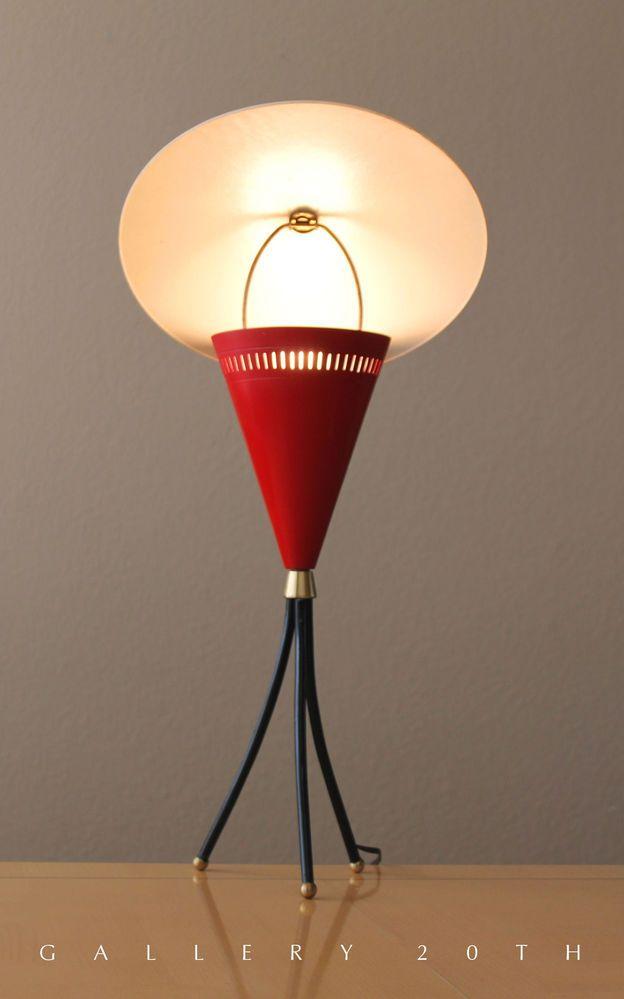 Mid century modern 50s reflector lamp sarfatti raymor for Eames lampe