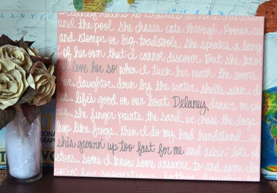 baby shower gift song lyric bible verse canvas painting wall art