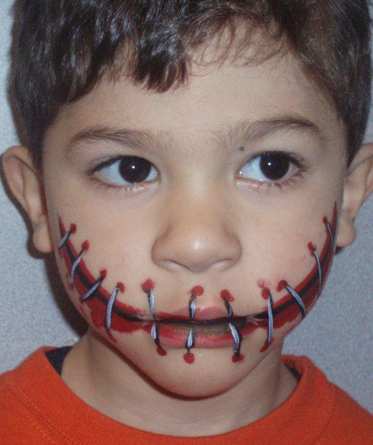 boys like to scare! Face Paint Pinterest - Boys Halloween Makeup