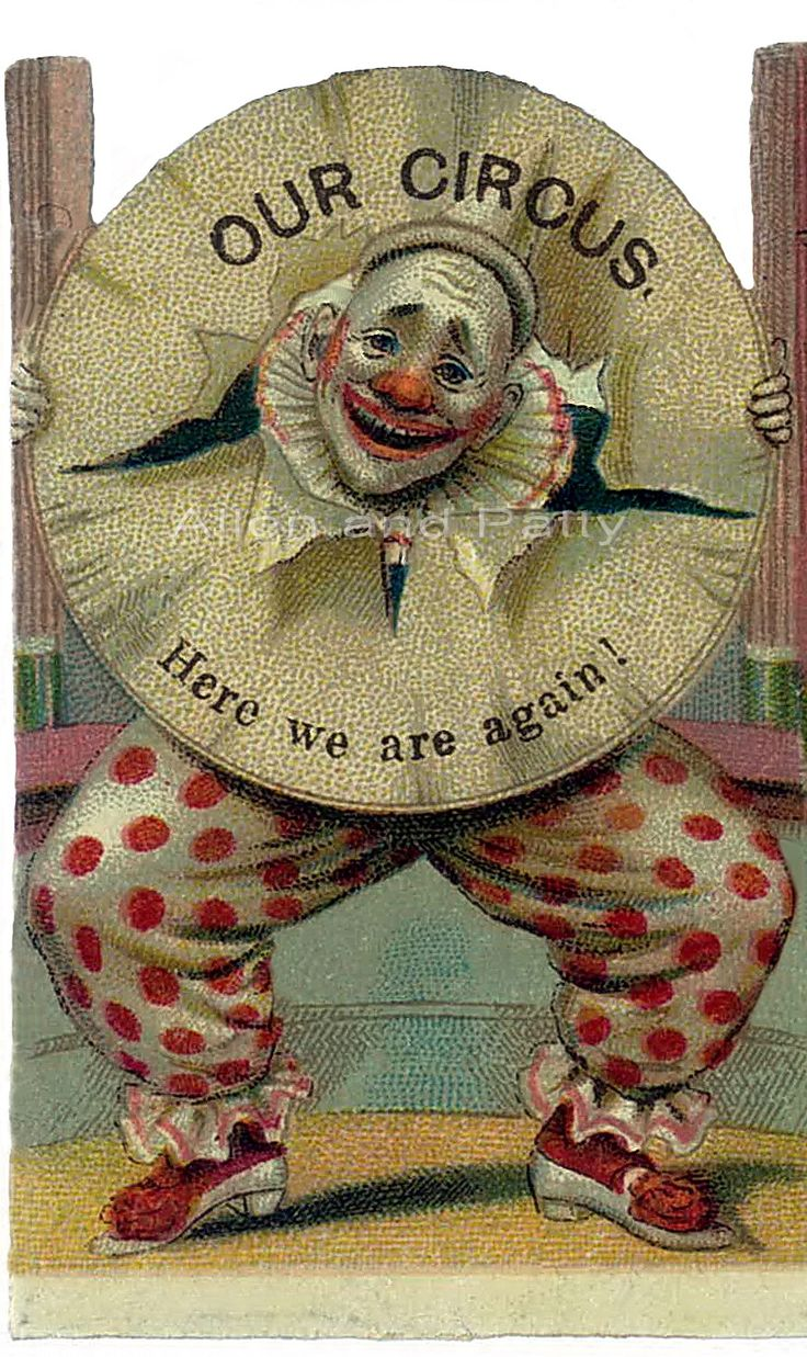Vintage CIRCUS CLOWNS Digital Collage Sheet 2.5 Inch ...