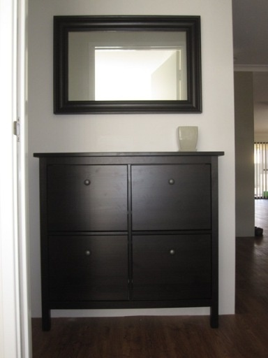 My hemnes shoe cabinet mirror Ideas For the Home Pinterest