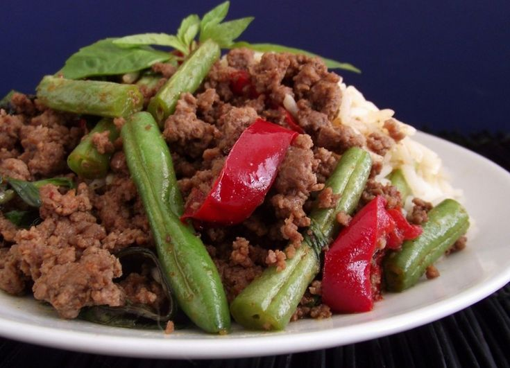 Spicy Thai Basil Beef recipe- Lunch #freezercooking #lunch #oamc