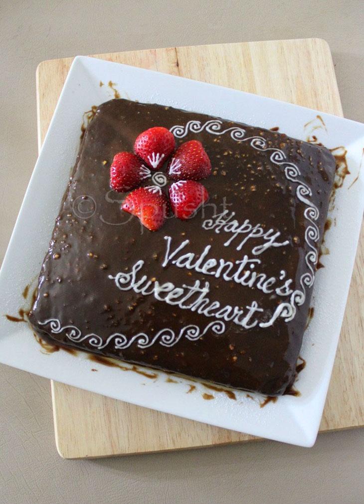 Brownie Cake For Valentina S Valentine Ideas Decor