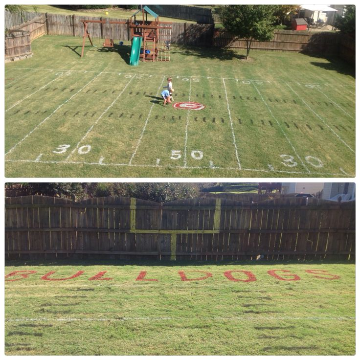 Football Field In My Backyard : UGA football field in our backyard $11 in spray paint & 3 hrs I used