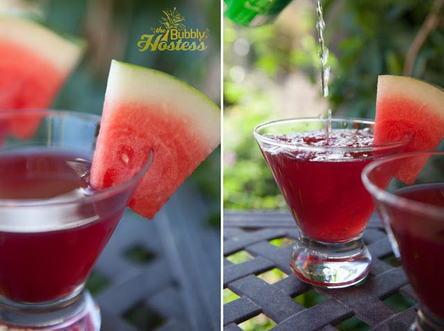 Pomegranate Watermelon Rum Cooler | The Bubbly Hostess
