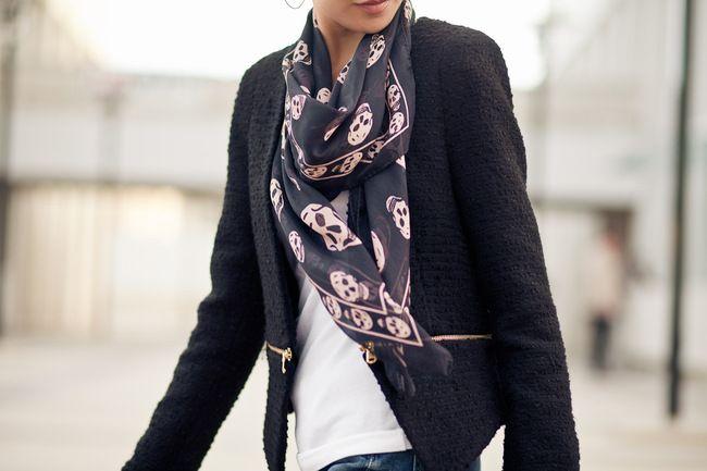 McQueen silk scarf: http://rstyle.me/fm6bgsd7ie