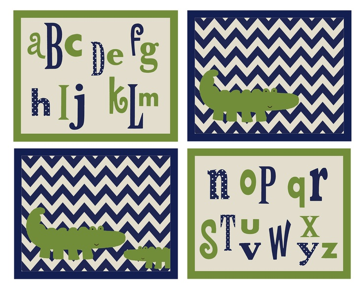 Set of 4 Zig Zag Allig...