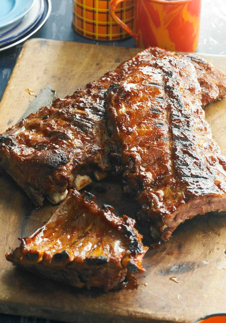Sweet & Hot Sticky Ribs -- In this delicious cookout recipe, a quick ...