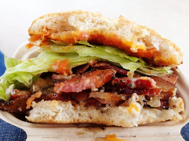 Rosemary, Black Pepper, and Brown Sugar Crusted Bacon BLT