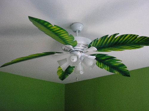 PALM LEAF CEILING fan replacement blade, fit on your existing ceiling ...